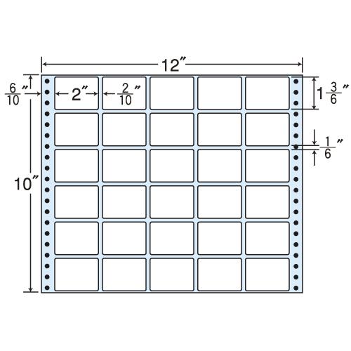 東洋印刷 タックシール nana レギュラータイプ (連続ラベル) 500折 MX12A