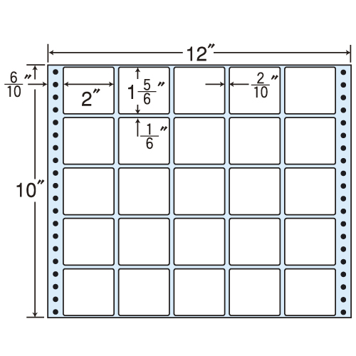 東洋印刷 タックシール nana レギュラータイプ (連続ラベル) 500折 MX12R
