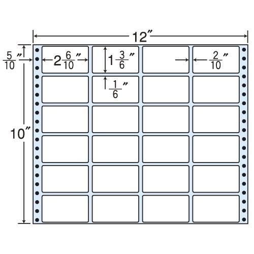 東洋印刷 タックシール nana レギュラータイプ (連続ラベル) 500折 M12B
