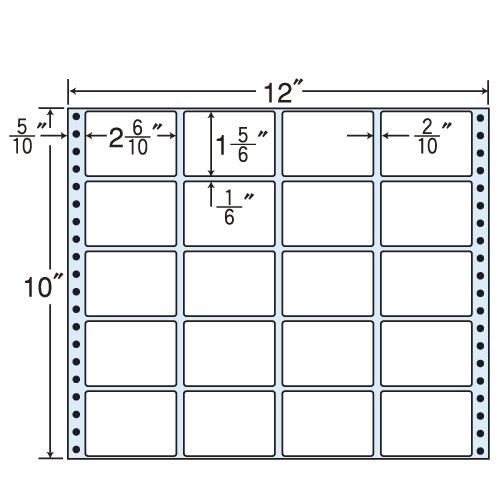 東洋印刷 タックシール nana レギュラータイプ (連続ラベル) 500折 MT12E