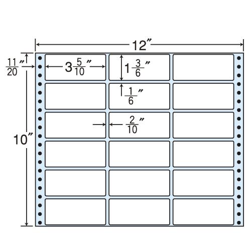 東洋印刷 タックシール nana レギュラータイプ (連続ラベル) 500折 M12W