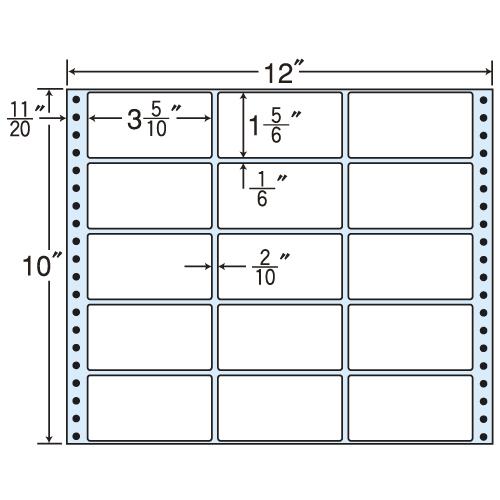 東洋印刷 タックシール nana レギュラータイプ (連続ラベル) 500折 M12H