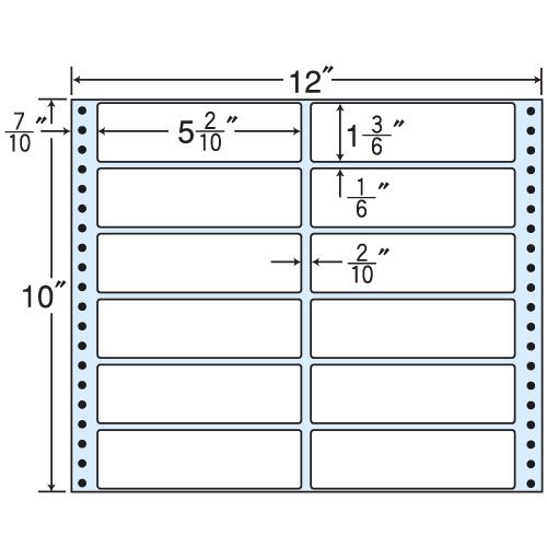 東洋印刷 タックシール nana レギュラータイプ (連続ラベル) 500折 MX12F
