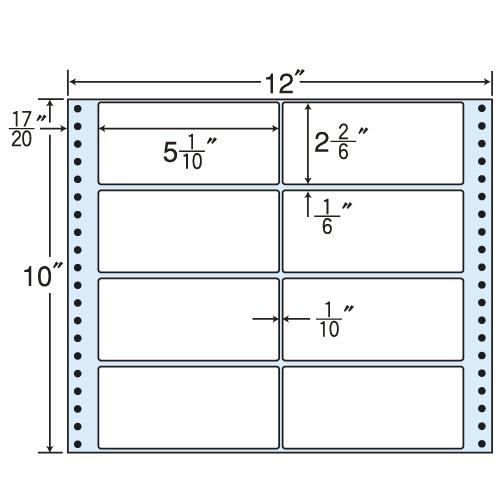 東洋印刷 タックシール nana レギュラータイプ (連続ラベル) 500折 M12U