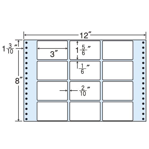東洋印刷 タックシール nana レギュラータイプ (連続ラベル) 500折 M12X