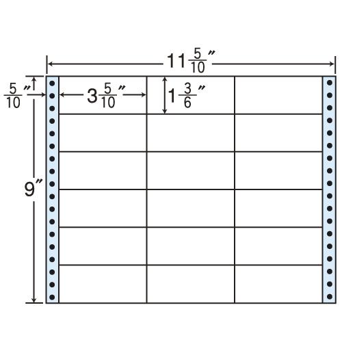 東洋印刷 タックシール nana レギュラータイプ (連続ラベル) 500折 MT11B