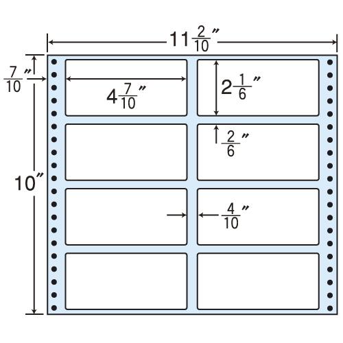 東洋印刷 タックシール nana レギュラータイプ (連続ラベル) 500折 M11i