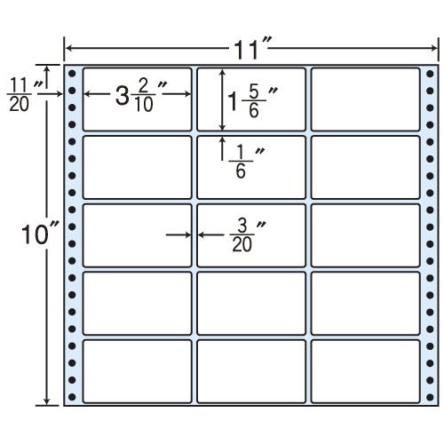 東洋印刷 タックシール nana レギュラータイプ (連続ラベル) 500折 M11E