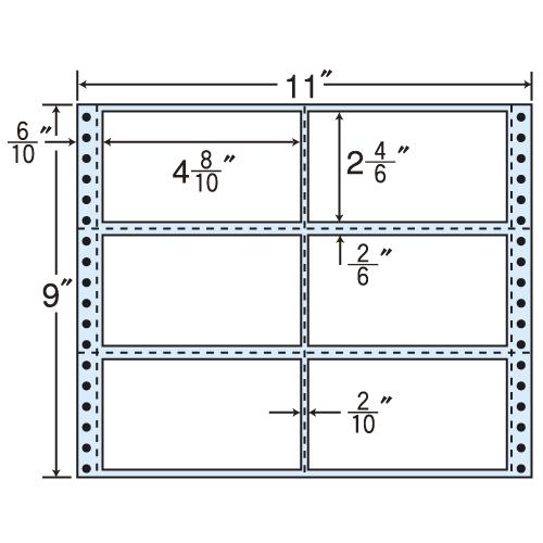 東洋印刷 タックシール nana レギュラータイプ (連続ラベル) 500折 M11B
