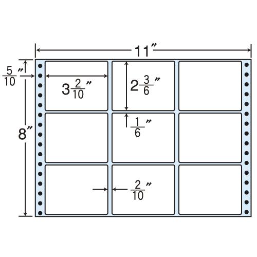東洋印刷 タックシール nana レギュラータイプ (連続ラベル) 500折 M11D