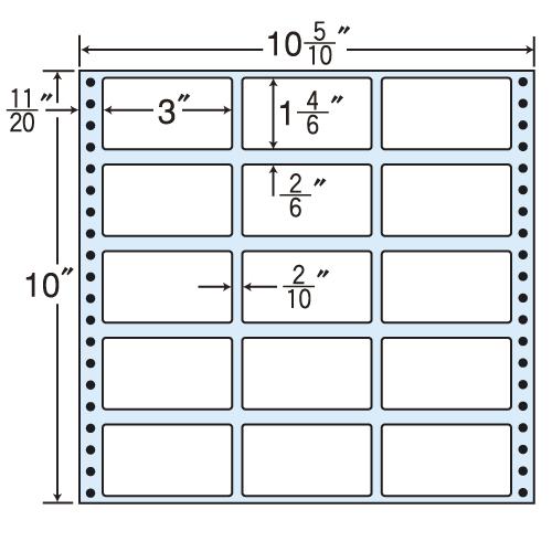 東洋印刷 タックシール nana レギュラータイプ (連続ラベル) 500折 M10D