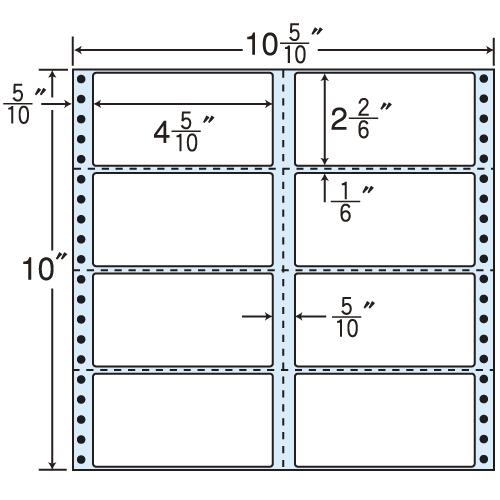 東洋印刷 タックシール nana レギュラータイプ (連続ラベル) 500折 M10C