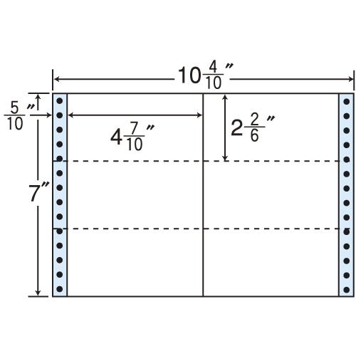 東洋印刷 i タックシール nana レギュラータイプ (連続ラベル) 500折×2 MX10