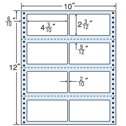 東洋印刷 タックシール nana レギュラータイプ (連続ラベル) 500折 M10W