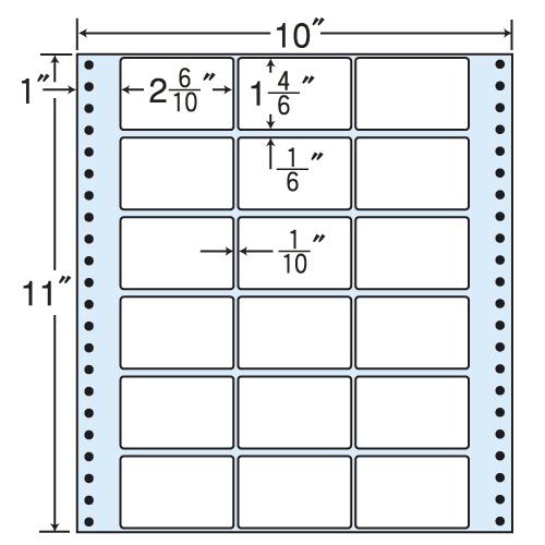 東洋印刷 タックシール nana レギュラータイプ (連続ラベル) 500折 M10K