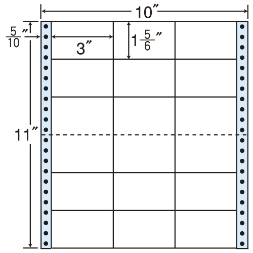 東洋印刷 タックシール nana レギュラータイプ (連続ラベル) 500折 M10J