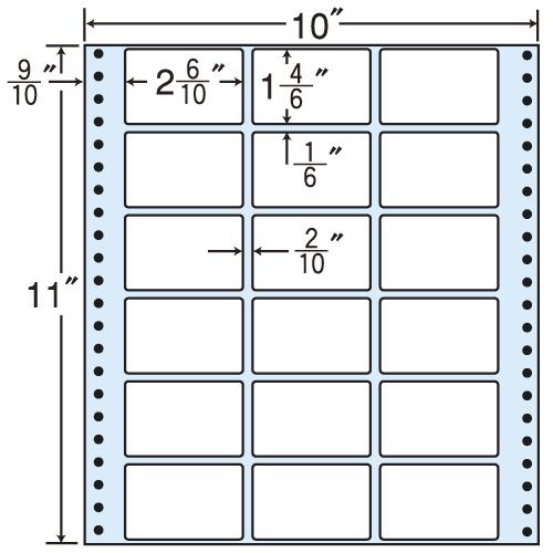 東洋印刷 タックシール nana レギュラータイプ (連続ラベル) 500折 M10X