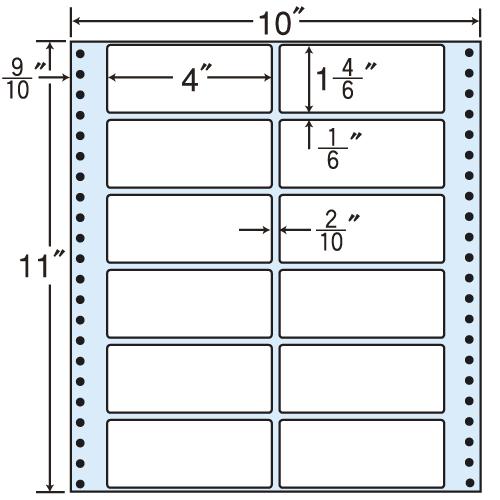 東洋印刷 タックシール nana レギュラータイプ (連続ラベル) 500折 M10G