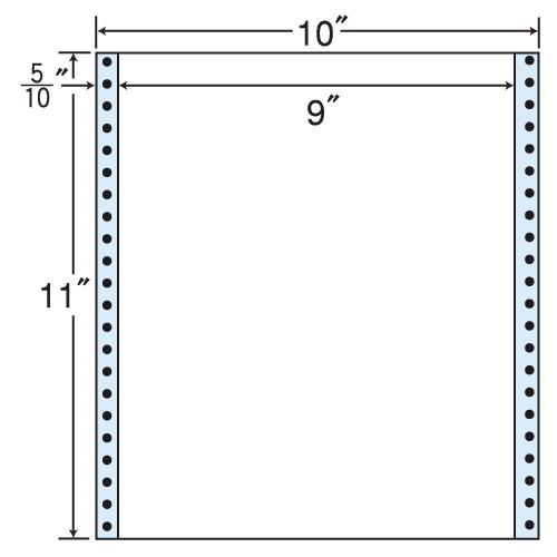 東洋印刷 タックシール nana レギュラータイプ (連続ラベル) 500折 M10V