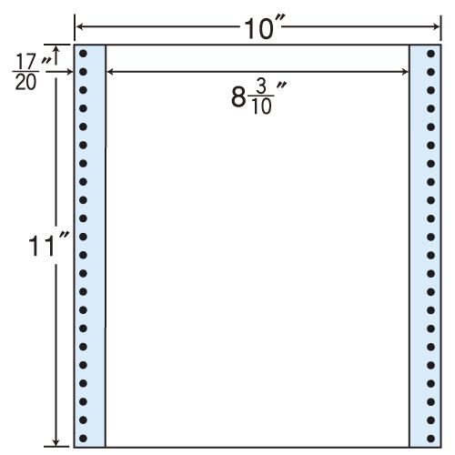東洋印刷 タックシール nana レギュラータイプ (連続ラベル) 500折 MT10P