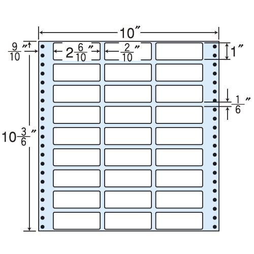 東洋印刷 タックシール nana レギュラータイプ (連続ラベル) 500折 MX10C