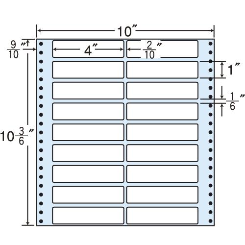 東洋印刷 タックシール nana レギュラータイプ (連続ラベル) 500折 M10i