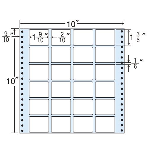 東洋印刷 Oタックシール nana レギュラータイプ (連続ラベル) 500折 MX10