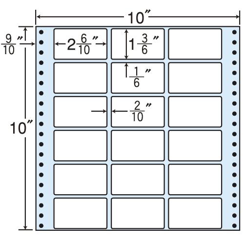 東洋印刷 タックシール nana レギュラータイプ (連続ラベル) 500折 M10F