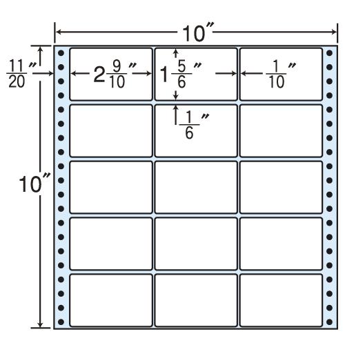 東洋印刷 タックシール nana レギュラータイプ (連続ラベル) 500折 MX10F