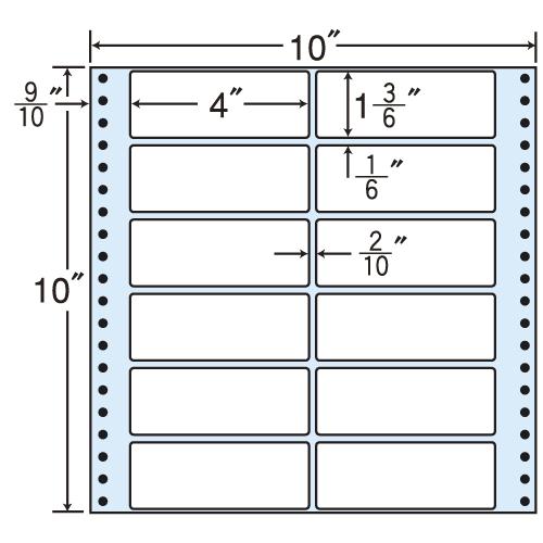東洋印刷 タックシール nana レギュラータイプ (連続ラベル) 500折 M10H