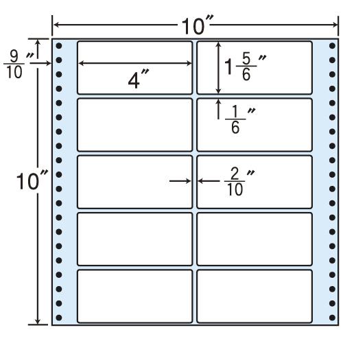 東洋印刷 タックシール nana レギュラータイプ (連続ラベル) 500折 MT10Q