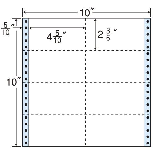 東洋印刷 タックシール nana レギュラータイプ (連続ラベル) 500折 M10B