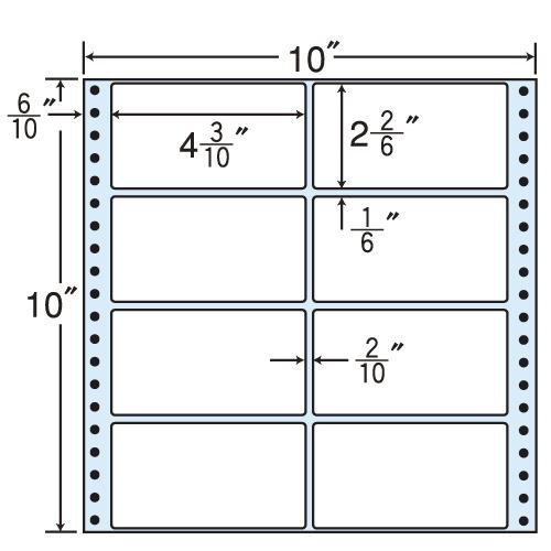 東洋印刷 タックシール nana レギュラータイプ (連続ラベル) 500折 M10T
