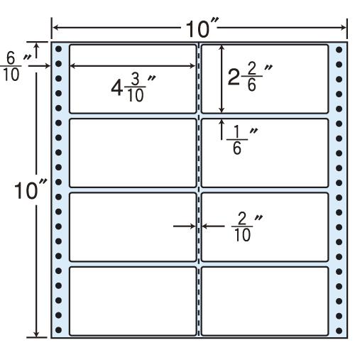 東洋印刷 タックシール nana レギュラータイプ (連続ラベル) 500折 M10R
