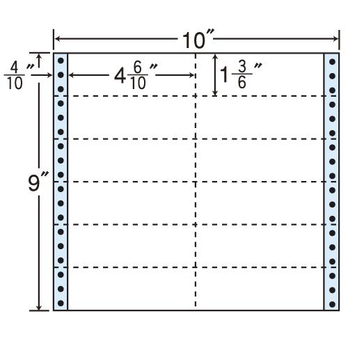 東洋印刷 タックシール nana レギュラータイプ (連続ラベル) 500折 M10S