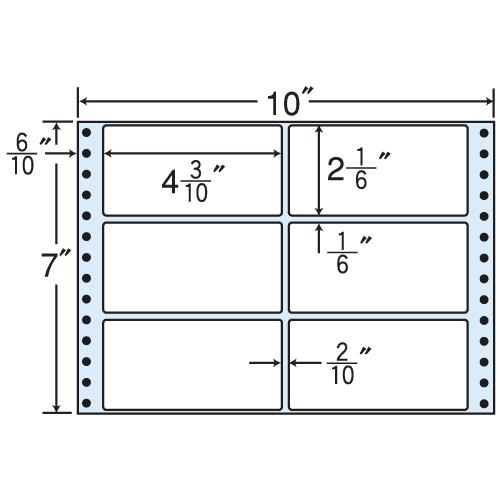 東洋印刷 タックシール nana レギュラータイプ (連続ラベル) 500折×2 MT10D