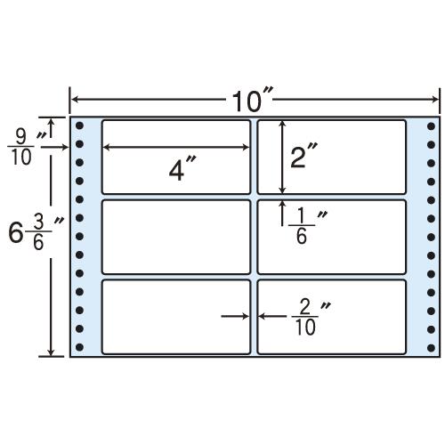 東洋印刷 タックシール nana レギュラータイプ (連続ラベル) 500折×2 MT10X