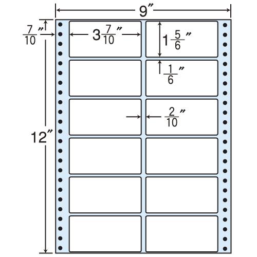 東洋印刷 タックシール nana レギュラータイプ (連続ラベル) 500折 M9D