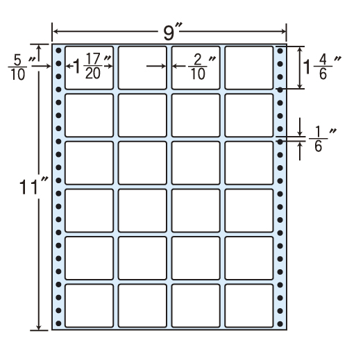 東洋印刷 タックシール nana レギュラータイプ (連続ラベル) 500折 M9K