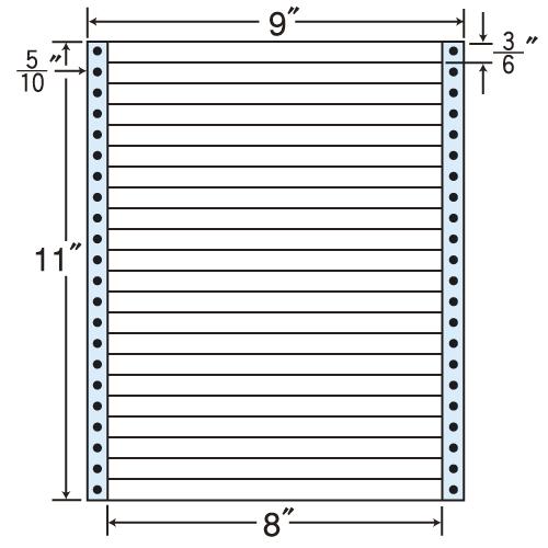 東洋印刷 タックシール nana レギュラータイプ (連続ラベル) 500折 MX9M
