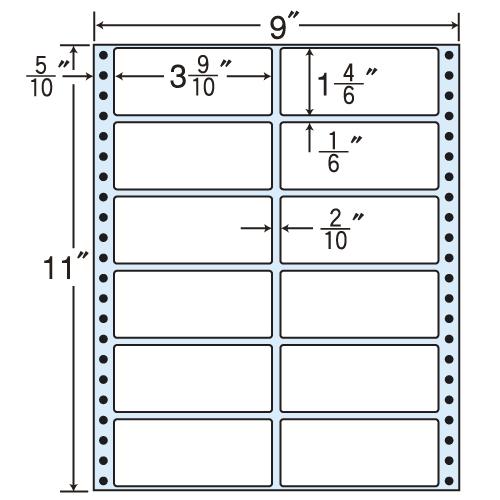 東洋印刷 タックシール nana レギュラータイプ (連続ラベル) 500折 M9B
