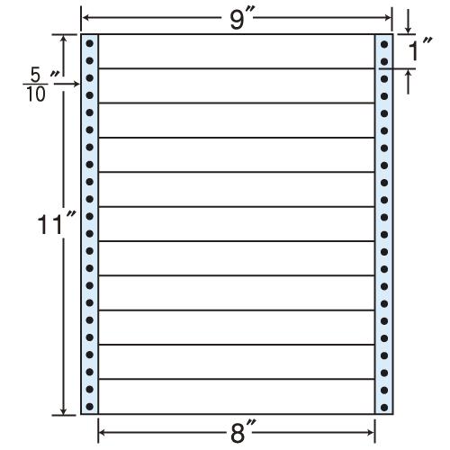 東洋印刷 タックシール nana レギュラータイプ (連続ラベル) 500折 MX9A