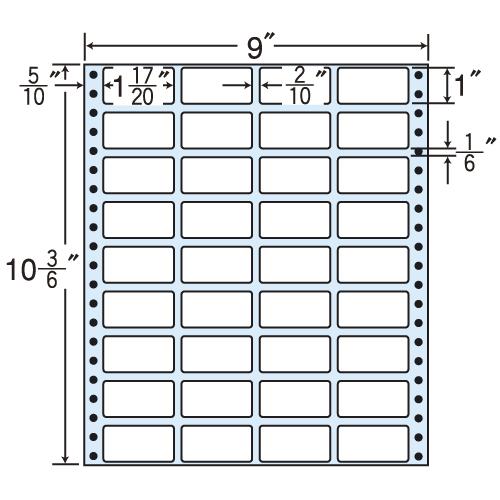 東洋印刷 タックシール nana レギュラータイプ (連続ラベル) 500折 MX9L