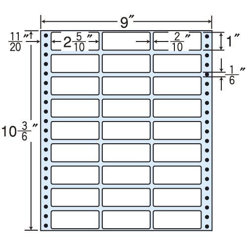 東洋印刷 i タックシール nana レギュラータイプ (連続ラベル) 500折 MX9