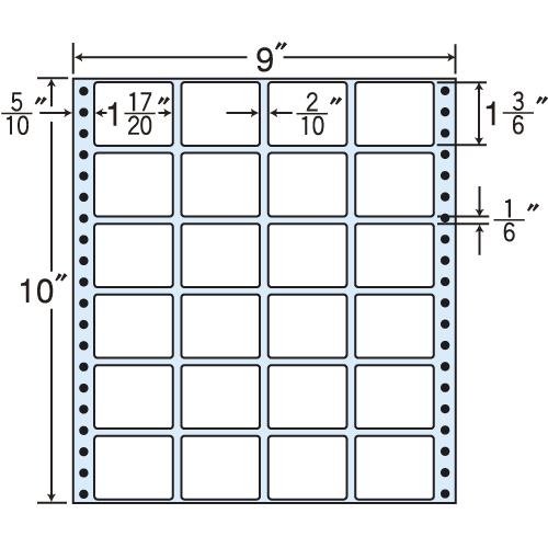東洋印刷 Oタックシール nana レギュラータイプ (連続ラベル) 500折 MX9