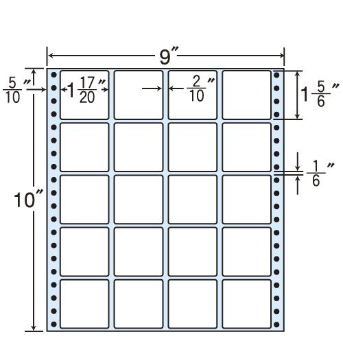東洋印刷 タックシール nana レギュラータイプ (連続ラベル) 500折 MX9T