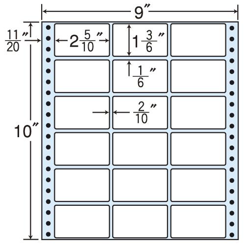 東洋印刷 タックシール nana レギュラータイプ (連続ラベル) 500折 MX9C