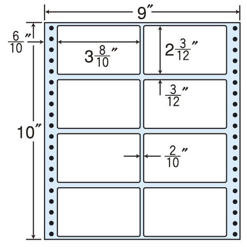 東洋印刷 タックシール nana レギュラータイプ (連続ラベル) 500折 M9C