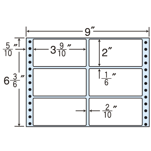 東洋印刷 タックシール nana レギュラータイプ (連続ラベル) 500折×2 M9Y
