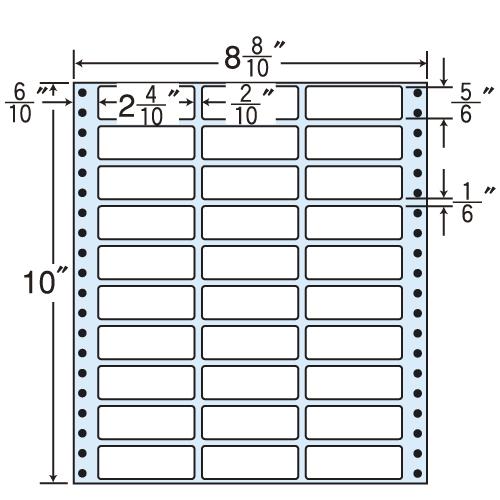 東洋印刷 タックシール nana レギュラータイプ (連続ラベル) 500折 MT8Y